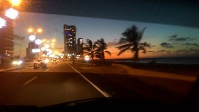Driving to the sunset