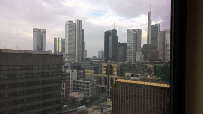 InterContinental Frankfurt - Room view on Mainhattan skyline