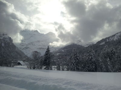 Day ski trip to Les Diablerets - Mountain view