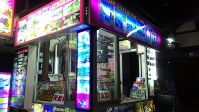 Patong tours - A tour booth in Patong
