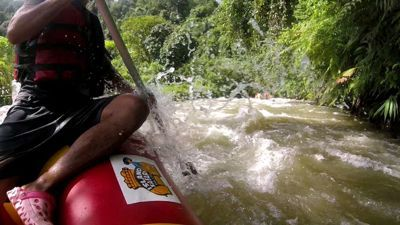 White water rafting in Phuket - On a rafting in Thailand