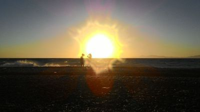 Rhodes, Greek Easternmost island - Sunset on a beach
